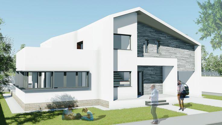 Proiect casa EXPANDA. Parter + Mansarda | 4 camere | 181mp. Mai multe detalii gasiti aici: http://uberhause.ro/proiect-casa-parter-plus-mansarda-181-m2-expanda