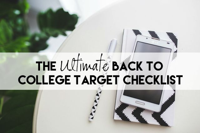 The Ultimate Back To College Packing Checklist