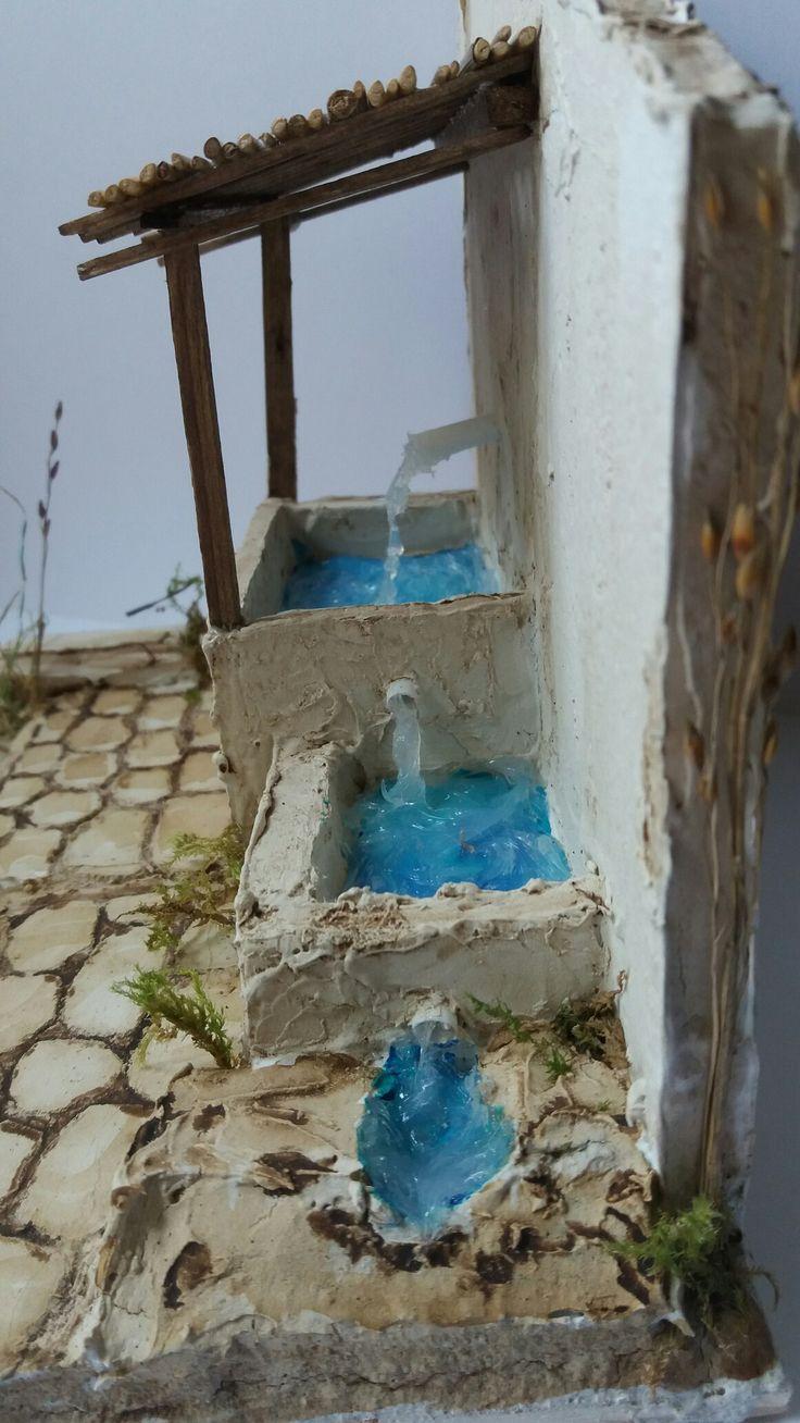 Fontana. Particolare. Tecnica Polistirolo e Stucco.