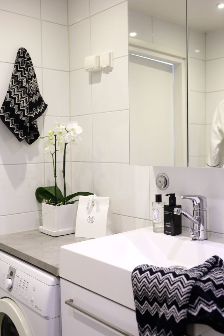 Homevialaura | modern bathroom | home spa | Ikea Godmorgon | Missoni Home