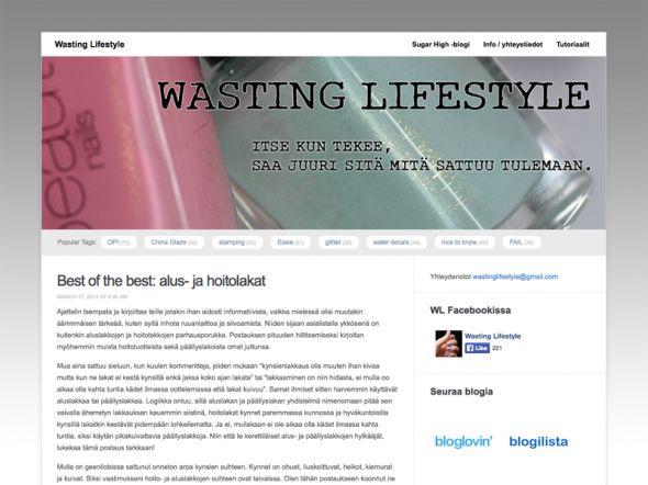 Wasting Lifestyle -blogi