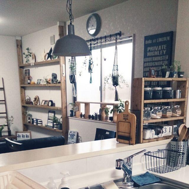 risaさんの、Kitchen,IKEA,salut!,ディアウォール,nikoand…,NO GREEN NO LIFE,みどりの雑貨屋さん,nanakoちゃんのプラントハンガー,いなざうるす屋さん♡,ラダーDIY,調味料棚DIY♪,いいねとフォローありがとうございます,オリジナルポスターミンネで販売中♪♪,オリジナルラベルリメ缶ミンネ販売中,オーダー受け付けます(^^),さぼさんハマり中♪,窓辺の棚DIY♪についての部屋写真