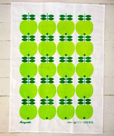 Kökshandduk Margareta gröna äpplen