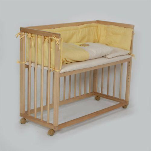 baby bedside cot bed co sleeper yellow maternity newborn. Black Bedroom Furniture Sets. Home Design Ideas