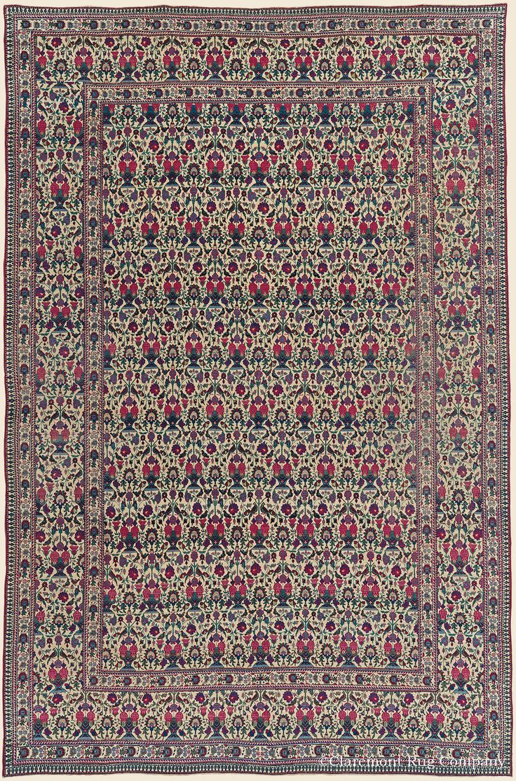 """TEHRAN, North Central Persian Antique 6' 9"""" x 10' 7"""" — Late 19th Century Rug - Claremont Rug Company  Click to learn more about this rug."""