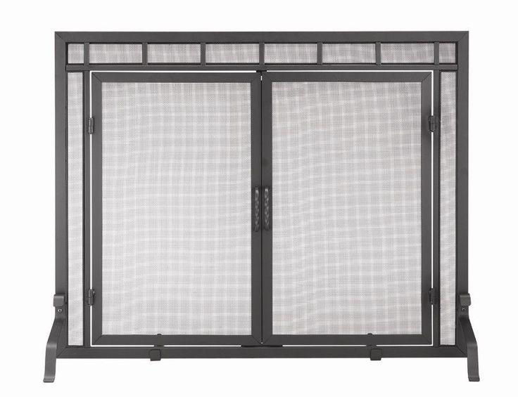 4 Panel Wrought Iron Fireplace Screen