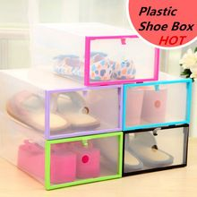 NUEVA Multifunción de Plástico Transparente Caja de Cristal cubierta de Almacenamiento caja De zapatos Caja de Zapatos De Almacenamiento de BRICOLAJE Del Hogar(China (Mainland))