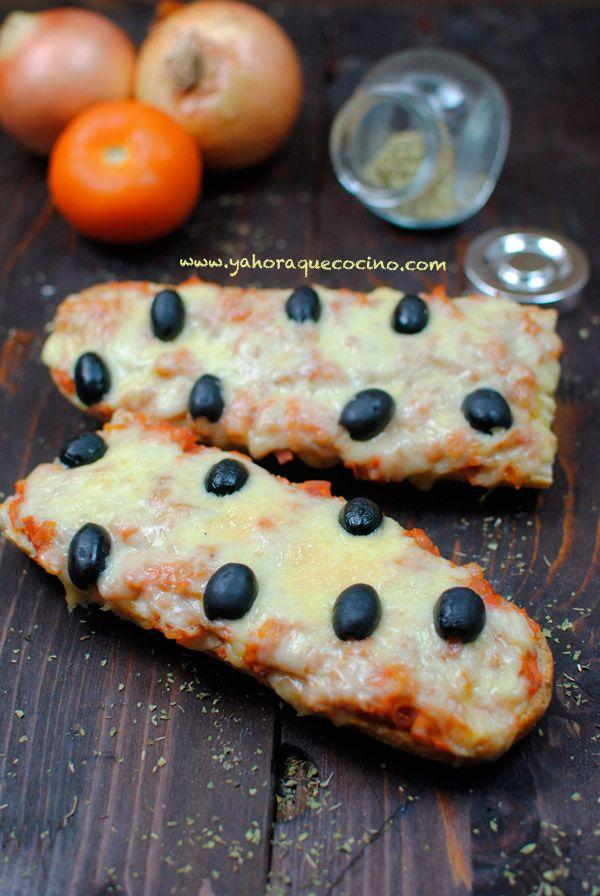 Receta fácil de Pan pizza o paninis #sinlactosa