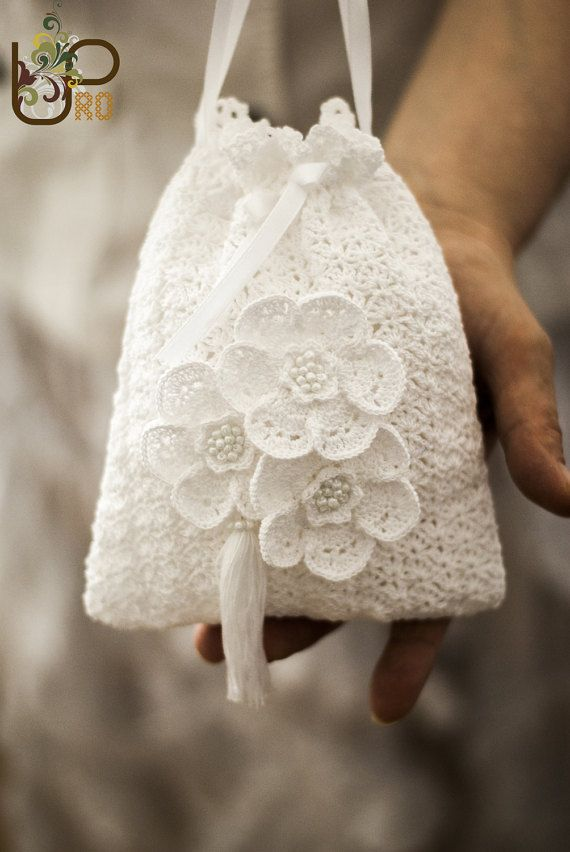 Bridal tassel purseGatsby crochet purseCrochet bag vintage by UpRo