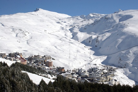 Sierra Nevada mountains in Granada Spain. I went skiing and snowboarding here.