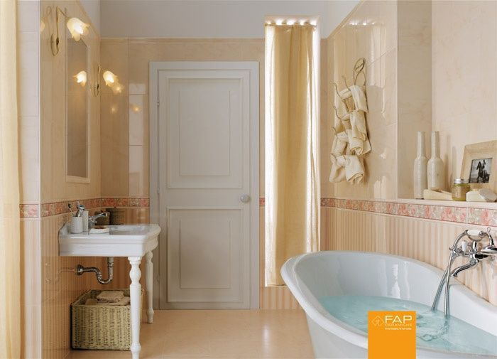 Piastrelle bagno splendida olimpia rosa fap ceramiche - Piastrelle rosa bagno ...