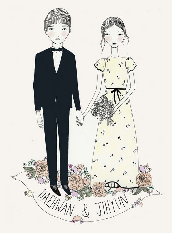 Stuff We Love: What KT Does Illustrated Wedding Stationery - One Fab Day