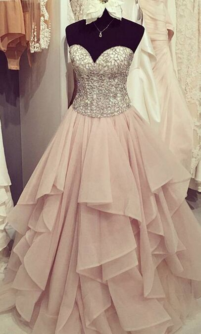 Sweetheart Beading Prom Dresses,Strapless Pink Ball Gowns Prom Dresses,Lace Up Prom Gowns,Quinceanera Dresses,Princess Prom Dresses For Teens,Evening Dresses
