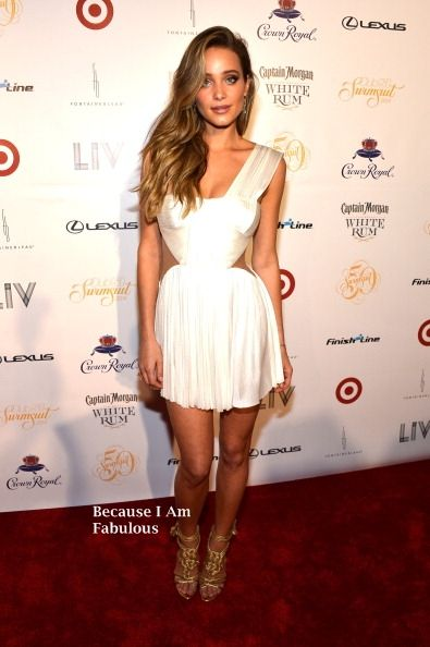Fabulously Spotted: Hannah Davis Wearing Maria Lucia Hohan - Sports Illustrated Hosts Club SI Swimsuit Bash - http://www.becauseiamfabulous.com/2014/02/hannah-davis-wearing-maria-lucia-hohan-sports-illustrated-hosts-club-si-swimsuit-bash/