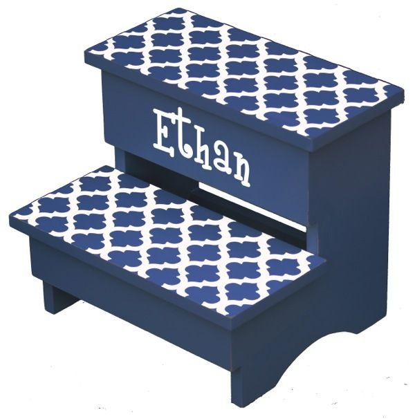 120 best every child needs a step stool images on pinterest renditions by reesa trellis personalized step stool color navy negle Image collections