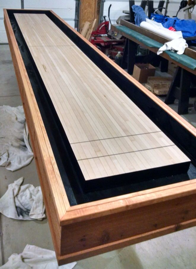 Stain And Paint. Shuffleboard ...