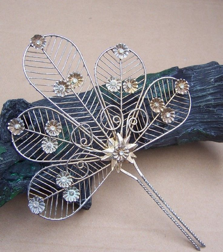 Vintage Hair Comb Indonesia Sumatra Wedding Bridal Headdress hmmm