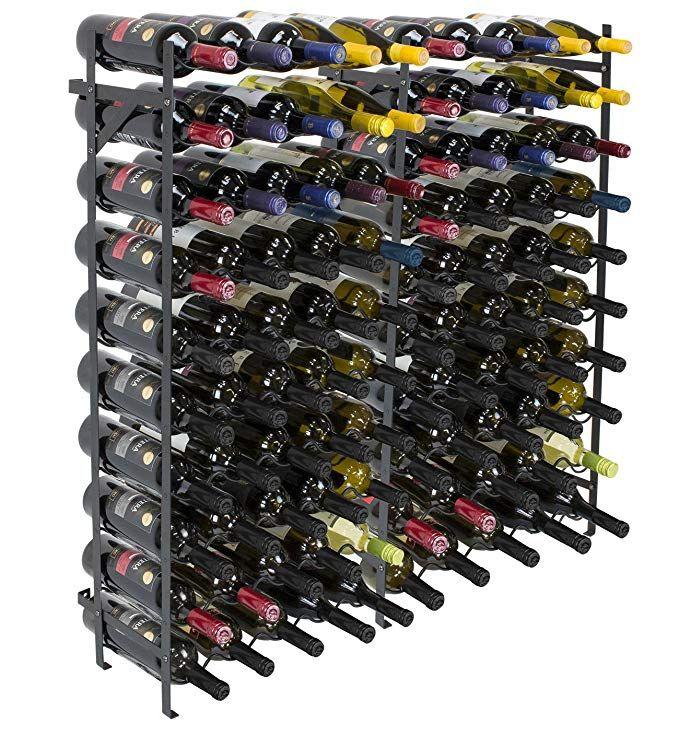 Sorbus Wine Display Rack 100 Bottle Large Capacity Wobble Free Wine Shelves Wine Storage Stand For Bar Basement Wi Wine Rack Wine Bottle Rack Wine Storage