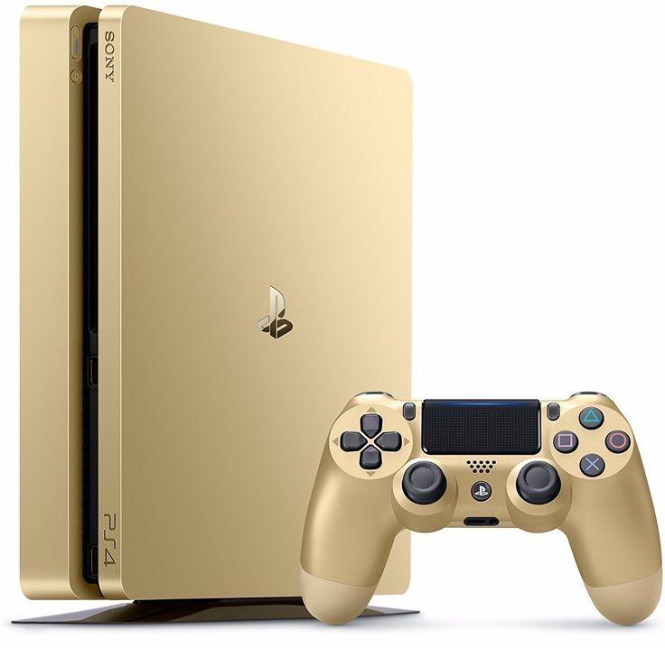 Sony PlayStation 4 Slim 1TB Console Gold Limited Edition - PlayStation 4