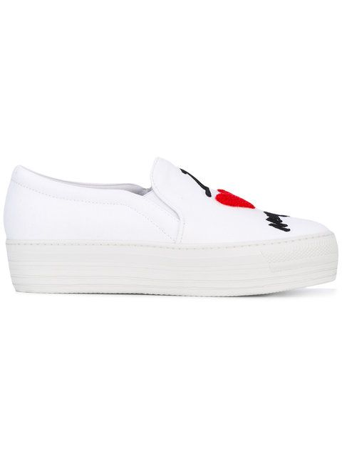 Shop Joshua Sanders platform slip on sneakers.