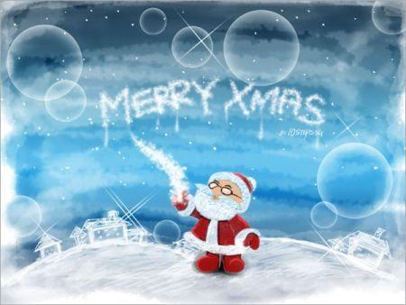 Сделай Рождественские обои в Фотошоп