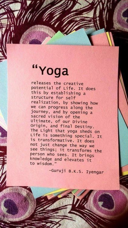 YOGA Releases the creative potential of life.