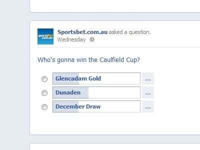 Racing -   Well done Facebookers & Dunaden! 40% of you called it right before the race - Sportsbet.com.au