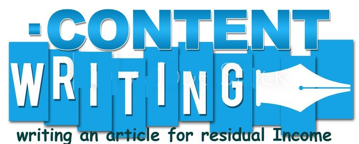writing an article for residual Income