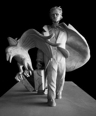 Edgar Allan Poe, by Stefanie Rocknak.  Stephen King & Tabitha contributed to his memorial statue >>> http://club-stephenking.fr/3144-actualite