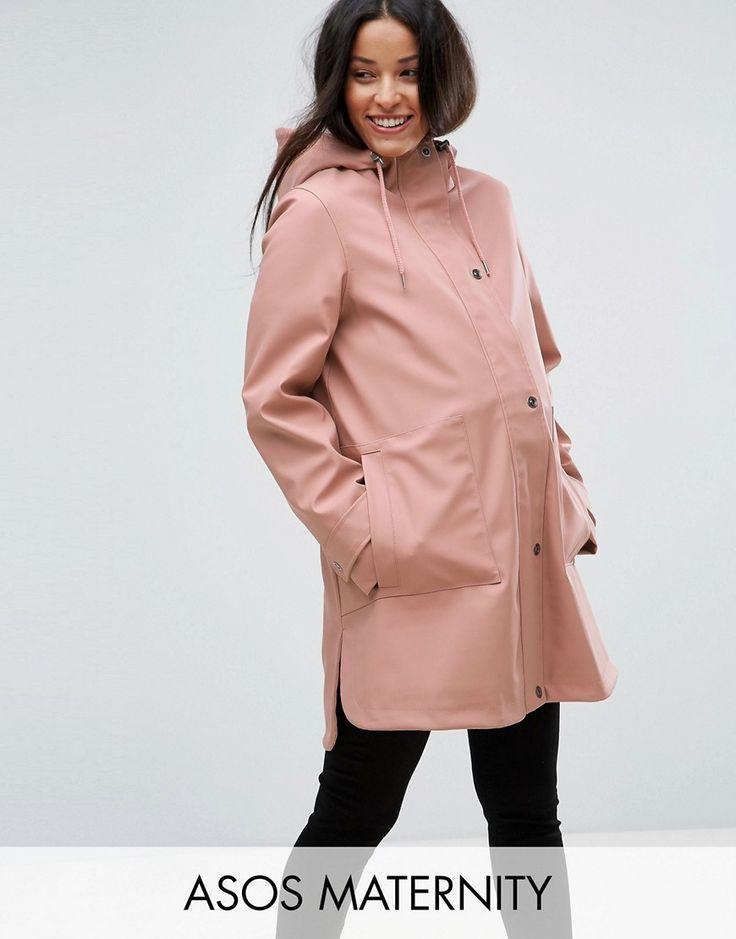 ASOS MATERNITY Premium Rain Coat with Fleece Lining - Pink