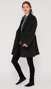 Manteau hivernal in gris foncé