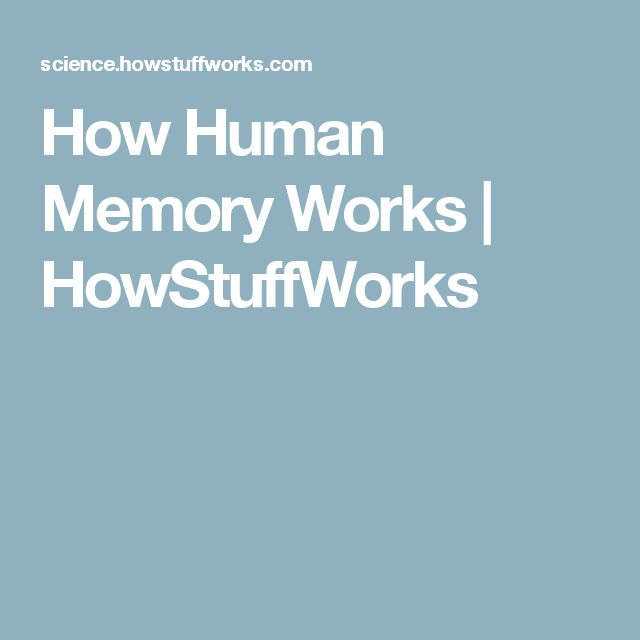How Human Memory Works | HowStuffWorks