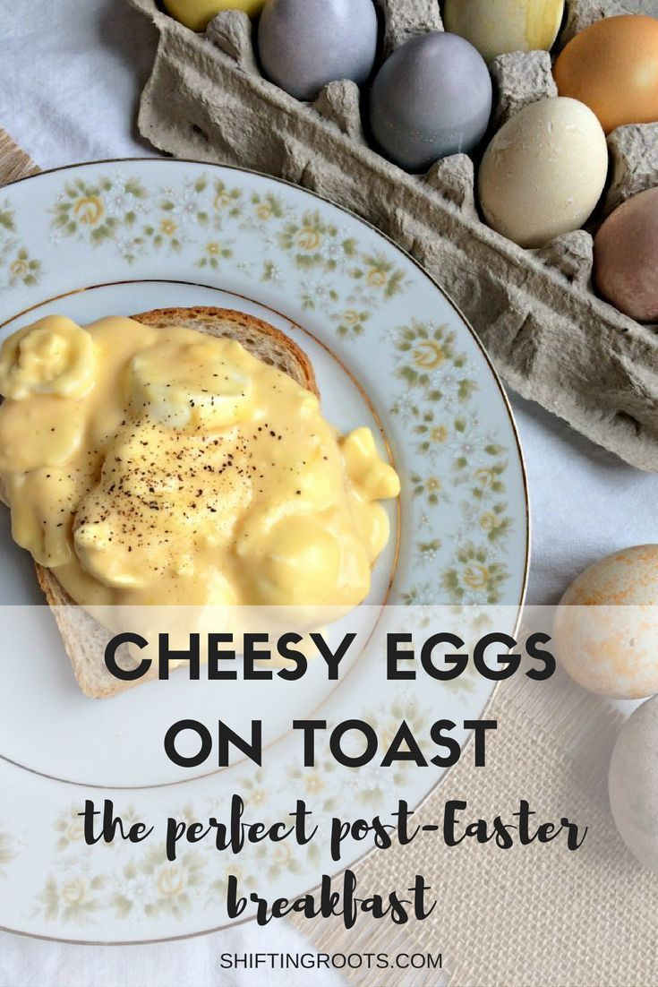 Easter is over and you're left with a lot of hard boiled eggs and a hatred of egg salad.  What do you do?  Cheesy Eggs on Toast to the rescue!!  It's an easy breakfast or brunch recipe that uses up all those eggs and leaves your family smiling.