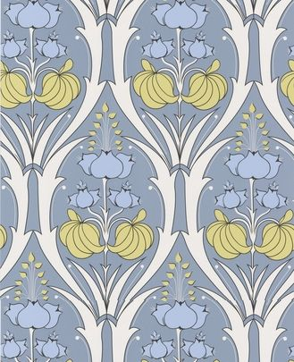 Passion Lily - stone color way - Amy Butler wallpaper - behind future fridge home accent?