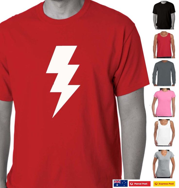 Funny T-Shirts Lightning Bolt image design print retro cool Tee s costume party