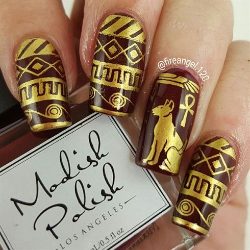 Egyptian+Nails+by+fireangel120+-+Nail+Art+Gallery+nailartgallery - 25+ Beautiful Egyptian Nails Ideas On Pinterest Matte Green
