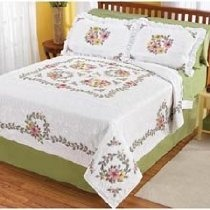 Isabella Bed Quilt Top Stamped Cross-Stitch Kit