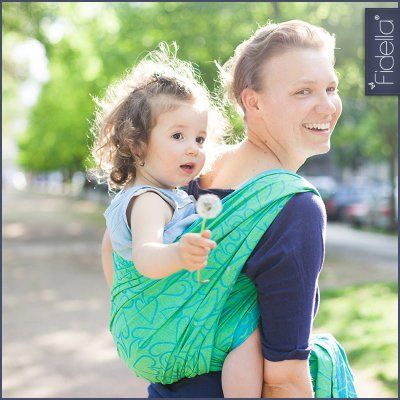 Fidella Babywrap - Amors Love Arrows -green-