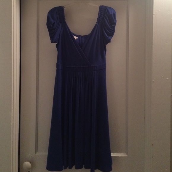 Girls night out dress Blue cocktail dress fun and flowing for a night out dancing. Worn once. Perfect condition London Times Dresses