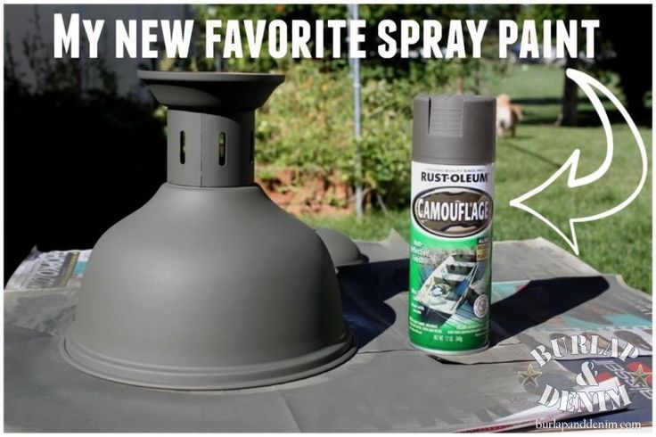 """Rust-Oleum Camouflage is similar to Restoration Hardware """"Flint"""" Upcycled Vintage Industrial Lighting {No Electrician Needed}"""