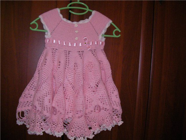 Dress made according to base point. Dressed in yarn crochet. And graphics patterns - Crochet patterns free