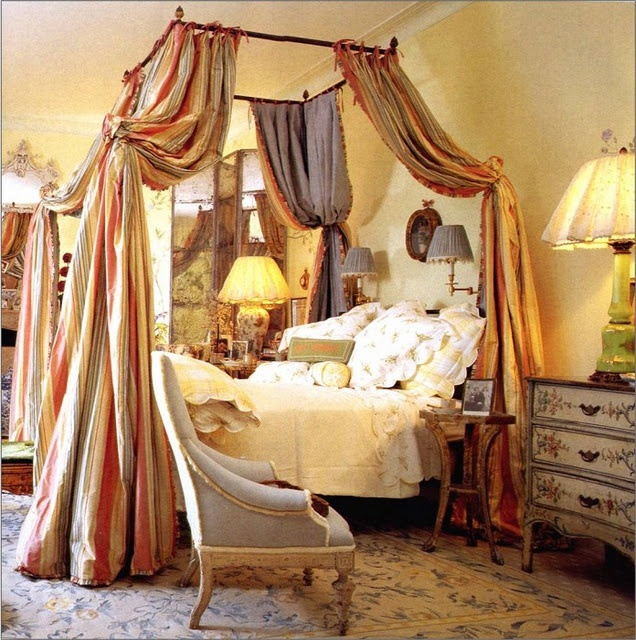draped bed