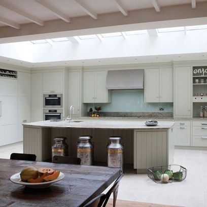 Glass splashback with shaker kitchen?