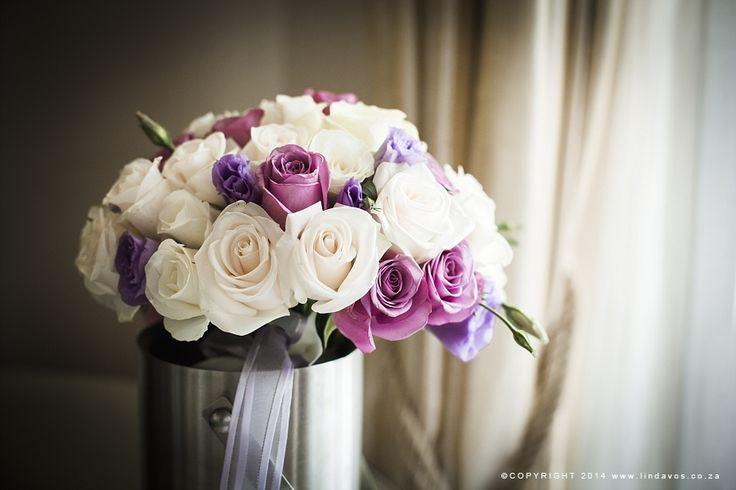 White & Purple Bouquet. www.lindavos.co.za