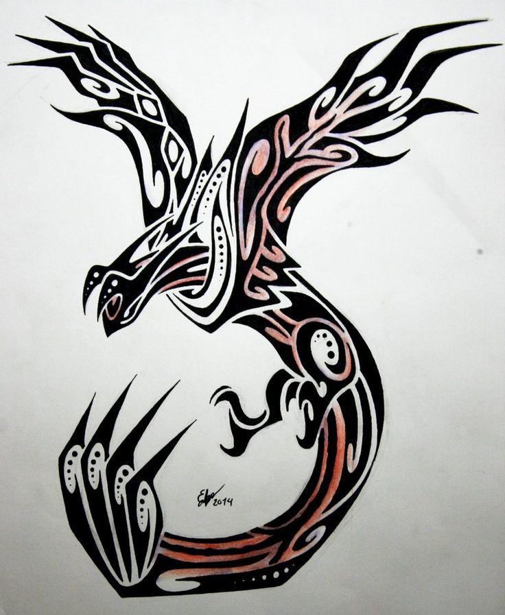 Tribal Yveltal by Esmeekramer on DeviantArt