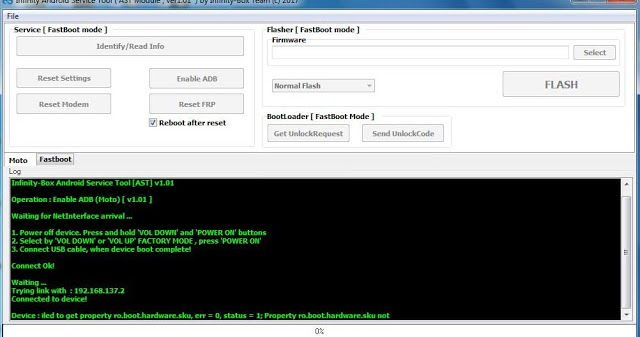 Infinity-Box Android Service Tool / AST v1 03 - More FRP features
