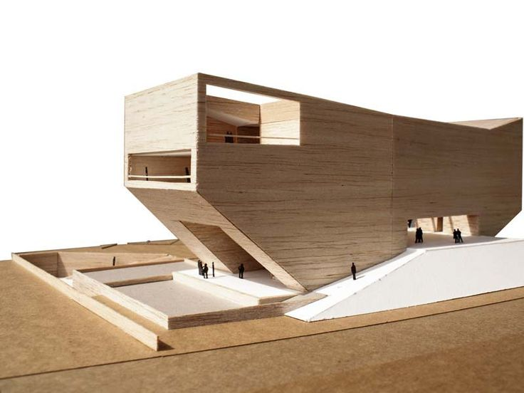 model, Clubhouse Pune, 1:200 cardboard, balsa wood