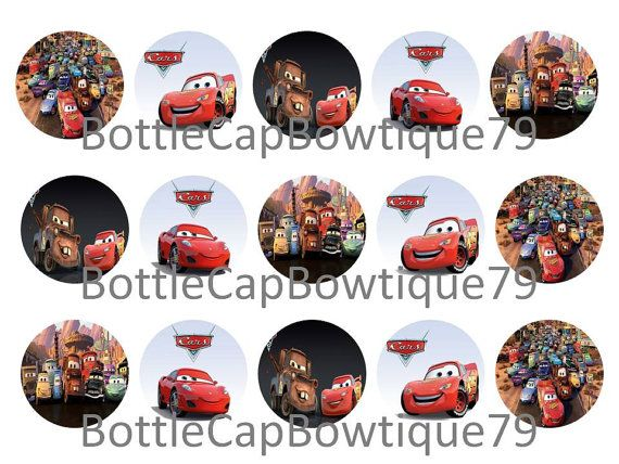 Disney Car's Bottle Cap Images, Disney Bottle Cap Images $0.99