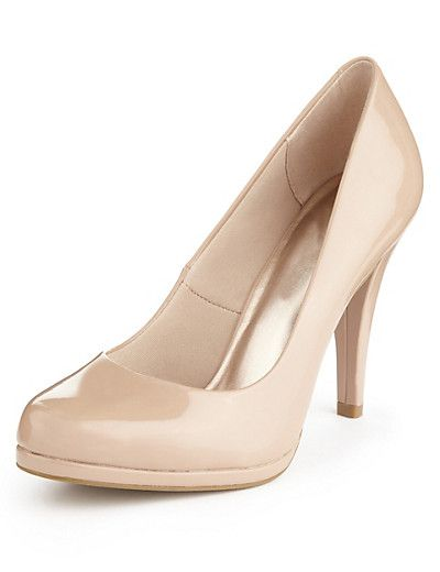 M&S COLLECTION Stiletto High Heel Platform Court Shoes with Insolia® T020540 £25.00