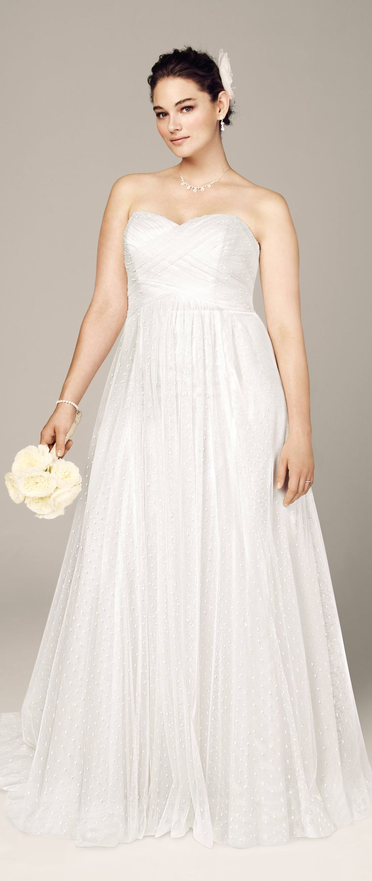 Got a big tum? Wanna get married someday? Don't know what to wear? Here's a good wedding dress from David's Bridal.... and..... here are some great tips to help you find the right dress: http://www.boomerinas.com/2014/10/08/wedding-dresses-for-your-body-type-apple-shapes-plus-size-tummies/